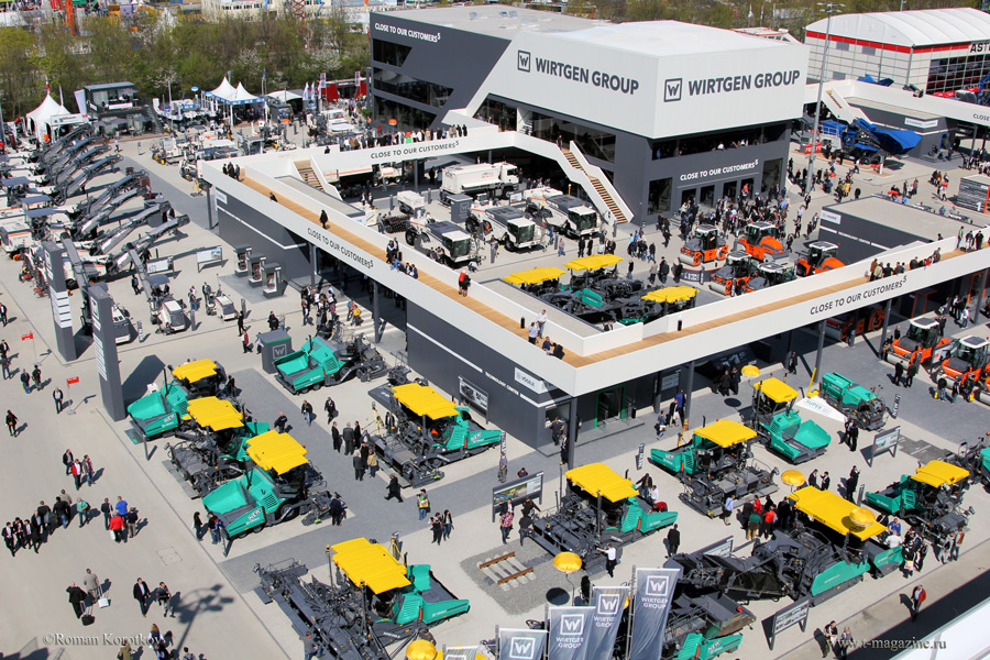 Стенд Wirtgen Group на выставке bauma 2016 в Мюнхене